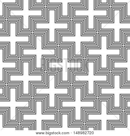 Vector Hinduism Swastika Ornament Pattern.