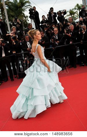 Blake Lively  attends the screening of 'Slack Bay (Ma Loute)'  premiere at the 69th Festival de Cannes. May 13, 2016  Cannes, France