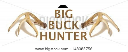 A white tail deer theme for Big Buck Hunters using the antlers and type rendering in one image.