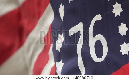 The Bennington flag. Revolutionary War Era Battle flag.
