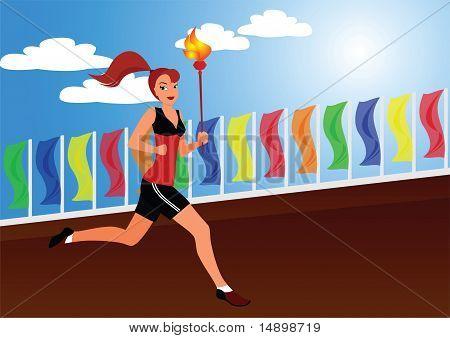 The sportswoman