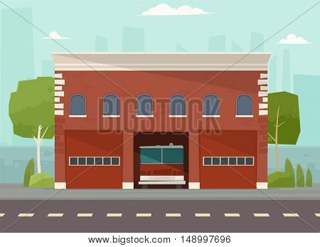 Building of fire station.