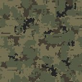 Digital pixel camouflage seamless patterns. Vector Texture Illustration isolated on white background. poster