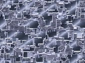 Abstract mesh texture for technology, industrial or web themes poster