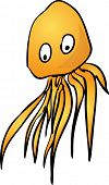 Jellyfish Cute friendly cartoon marine creature hand-drawn illustration poster