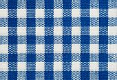 background of blue and white check tablecloth fabric poster