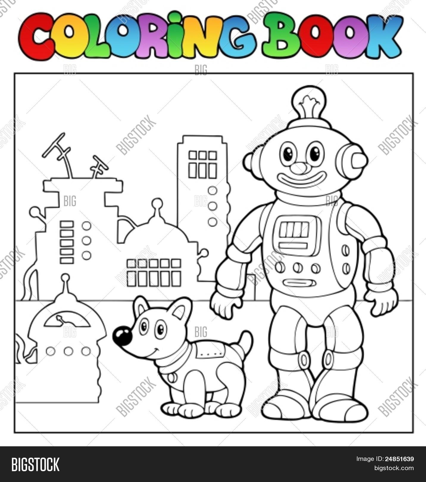 Coloring Book Robot Theme 1