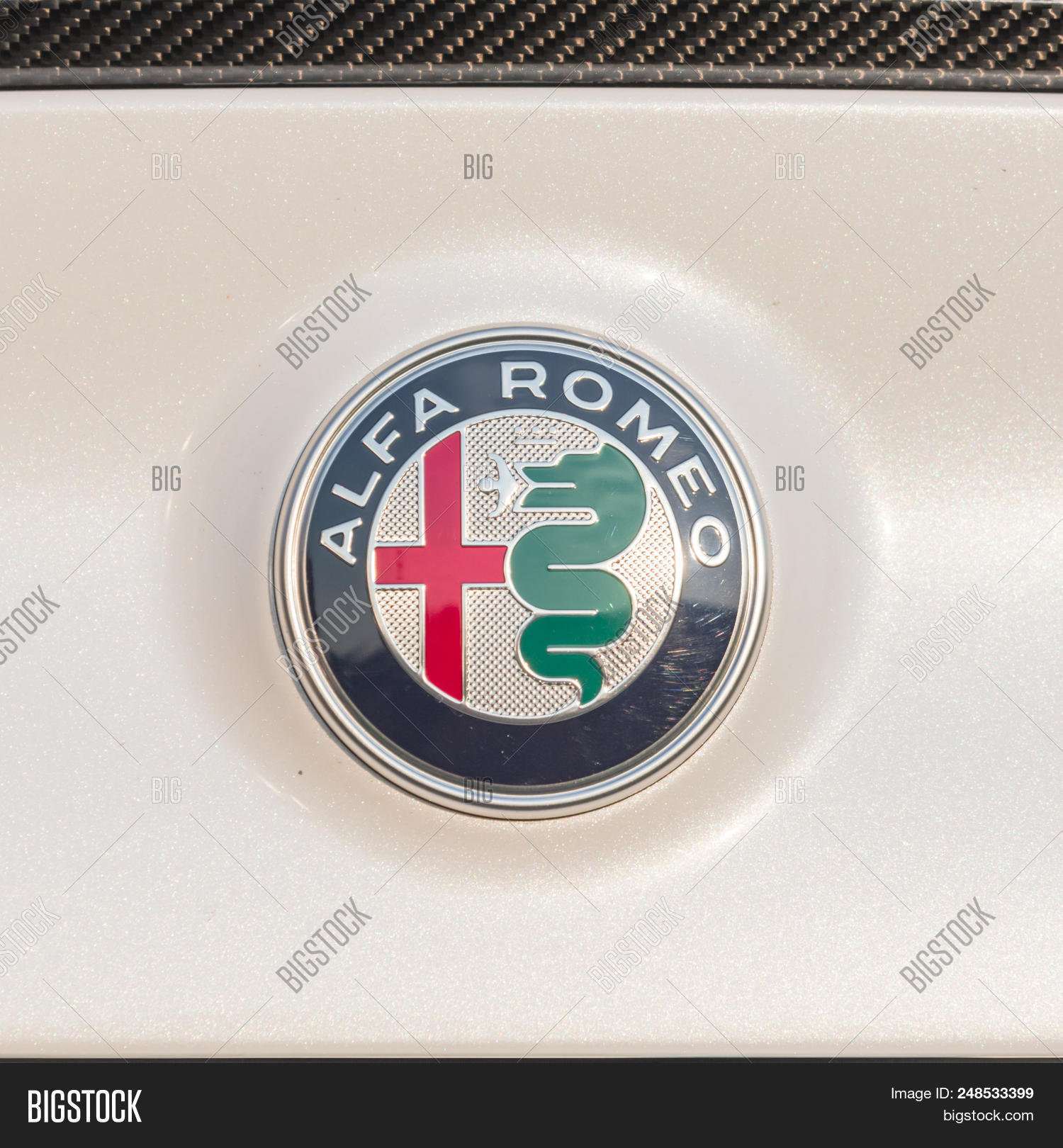 Alfa Romeo Automobiles Image Photo Free Trial Bigstock Symbol Logo On Sport Car Trunk