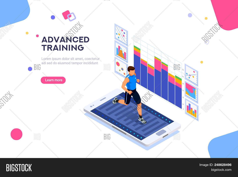 Treadmill Exercising Vector & Photo (Free Trial)   Bigstock