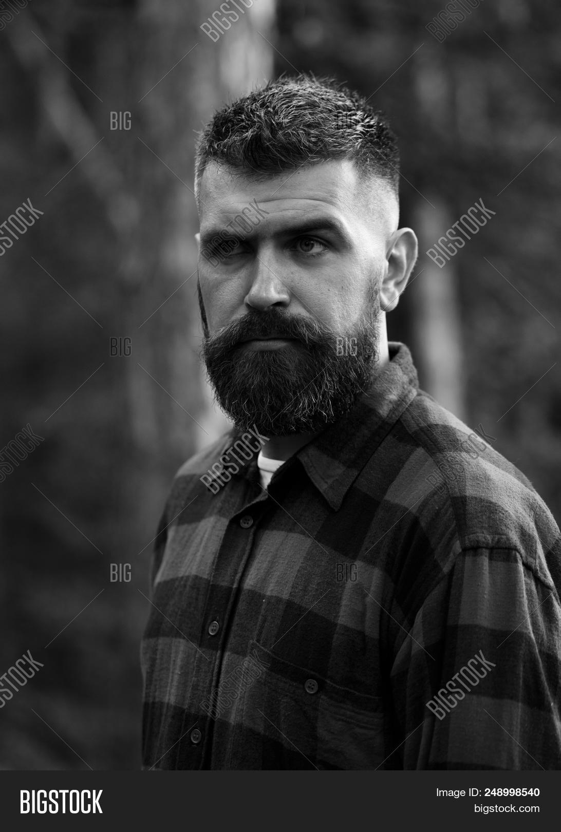 Phenomenal Man Strict Face Beard Image Photo Free Trial Bigstock Natural Hairstyles Runnerswayorg