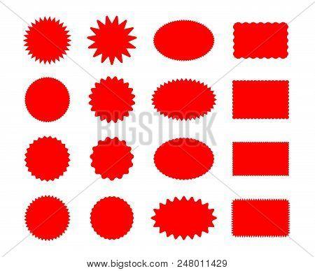 Star Price Stickers. Starburst Sticker Set Isolated On White Background, Vector Star Burst Splash Pr