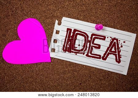 Handwriting Text Idea. Concept Meaning Creative Innovative Thinking Imagination Design Planning Solu