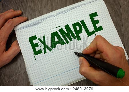 Conceptual Hand Writing Showing Example. Business Photo Text Illustration Sample Model To Follow Gui