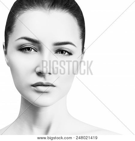 Beautiful Young Woman Looking Cocky. Isolated On White Background.