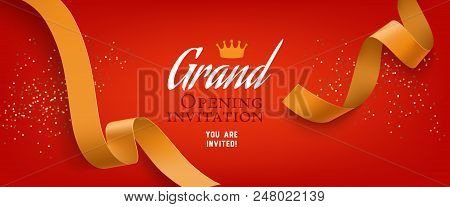 Grand Opening Vector Photo Free Trial Bigstock