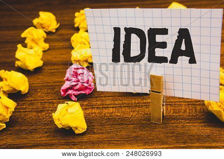 Conceptual Hand Writing Showing Idea. Business Photo Text Creative Innovative Thinking Imagination D