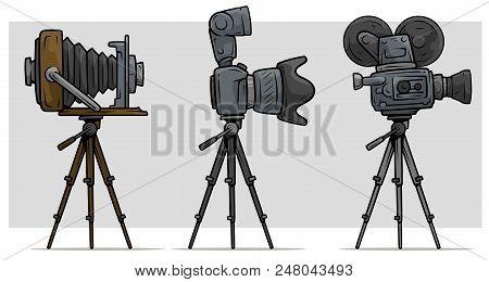 Camera Vintage Vector Free : Cartoon movie photo vector & photo free trial bigstock