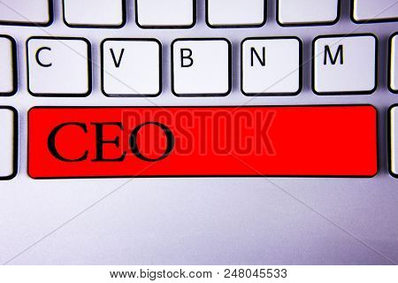 Handwriting Text Writing Ceo. Concept Meaning Chief Executive Officer Head Boss Chairperson Chairman