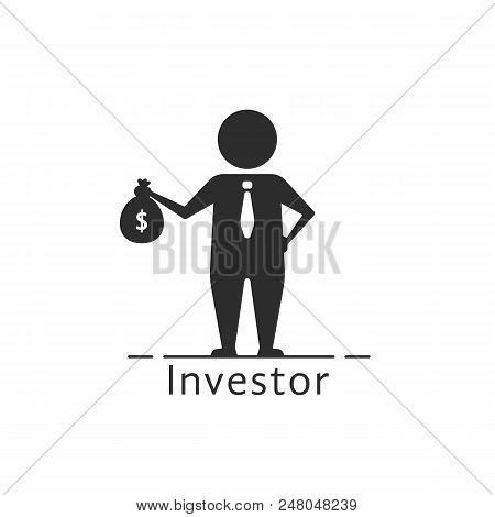 Investor Icon Like Money Benefit Symbol. Flat Style Trend Modern Conceptual Logo Graphic Design Illu