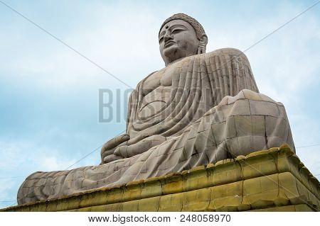 Giant Buddha Statue In Gaya, India