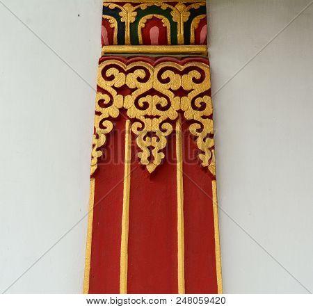 Decorations Of Bhutanese Buddhist Temple In Bodhgaya, India.