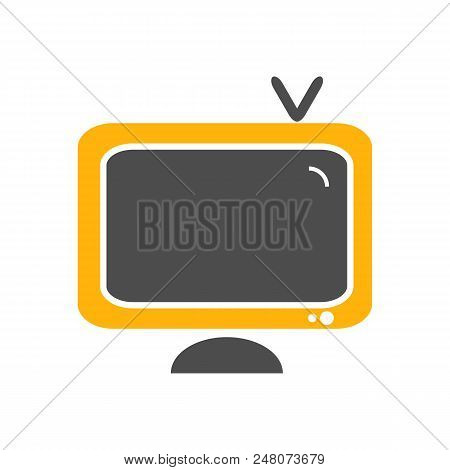 Television Icon Isolated On White Background. Vector Stock.