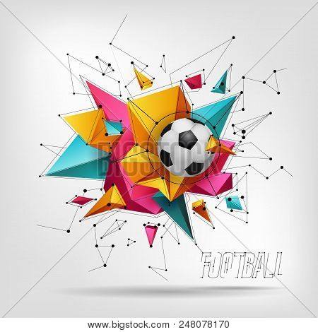 Creative origami soccer ball with stylish text Let's Play on ... | 470x450