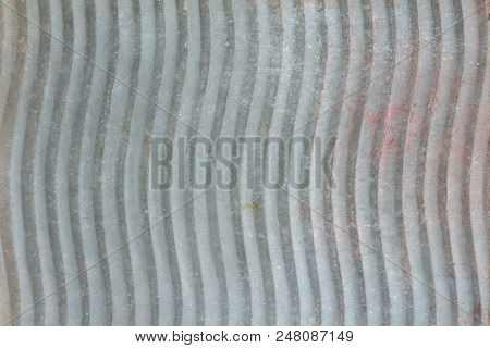 Galvanized Vertical Waved Washboard As A Background