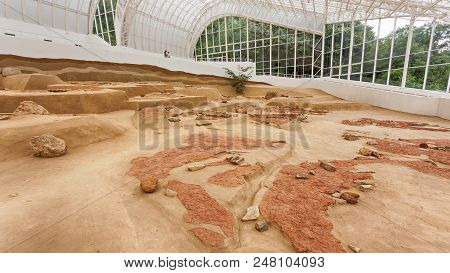 Visitor Center Lepenski Vir, Serbia, May 27, 2017, Archaeological Site Of The Mesolithic Iron Gates