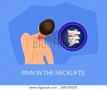 Pain In Necklifts. Treatment Of Cervical Spine. Recommendations For Treatment Of Pain. Visit To Hosp