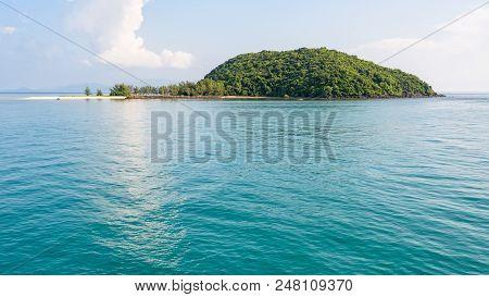 Beautiful Nature Landscape Of Blue Sea And Sky In Summer At Ko Tae Nai Small Island Near Ko Pha Ngan