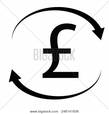 Pound Icon On White Background. Flat Style. Pound Sign. British Pounds Money For Your Web Site Desig