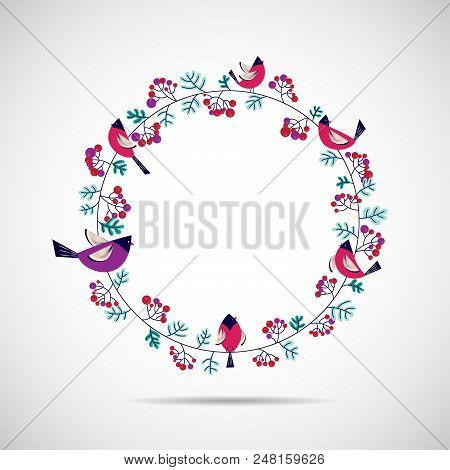 Vector Illustration Of Floral Tags. Flowers Arranged Un A Shape Design For Thank You Tags, Wedding T