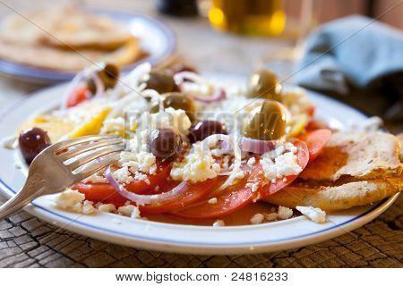 Tomato, Feta & Olive Salad
