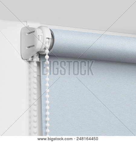 Color blackout roller blind on the top of the plastic window