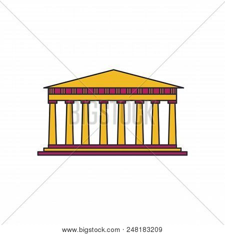 Pantheon Icon. Cartoon Illustration Of Greek Architecture Pantheon Vector Icon For Web And Advertisi