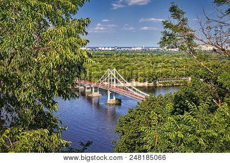 Walking Bridge In The Kiev