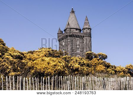 A View Of Scrabo Tower In Newtownards, Northern Ireland.