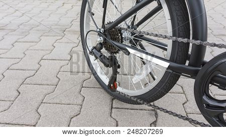 New Bicycle . Active Lifestyle Concept . Sport Bicycle Isolated  . The Beautiful Bicycle In The City