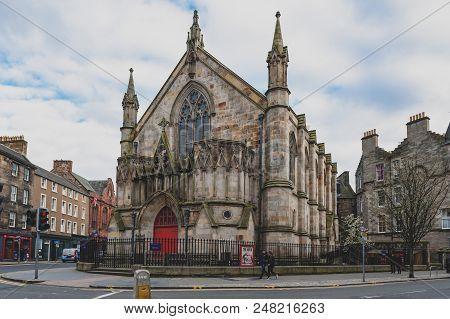 Edinburgh, Scotland - April 2018: Bedlam Theatre, The Oldest Student-run Theatre In Britain And Venu