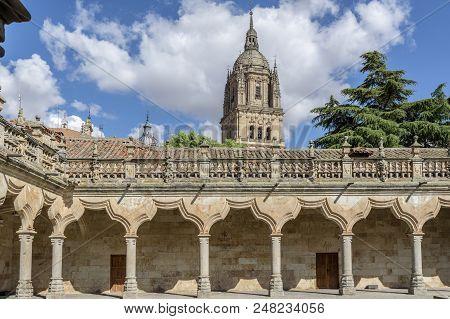 Salamanca, Spain, July 2018: Courtyard Of Famous University Of Salamanca, The Oldest University In S