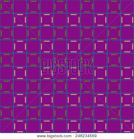 Lines In Grid Geometric Seamless Pattern. Fashion Graphic Background Design. Modern Stylish Abstract
