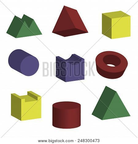 3d Geometric Shapes Vector & Photo (Free Trial) | Bigstock