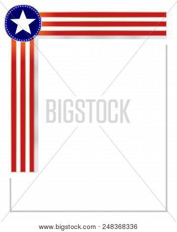 american flag border vector photo free trial bigstock