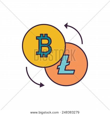Crypto Excange Icon. Cartoon Illustration Of Crypto Excange Vector Icon For Web And Advertising