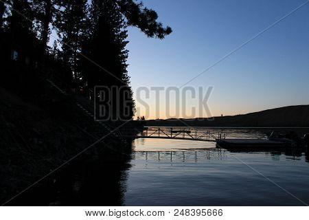 Colorful Sunset At Lake Wallowa (joseph, Oregon).