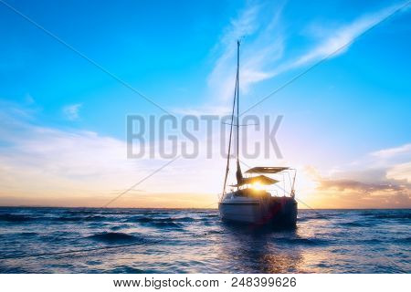 The Boat On The Sea.