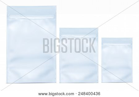 Pharmaceutical Bag Photographed Over A Pure White Background.