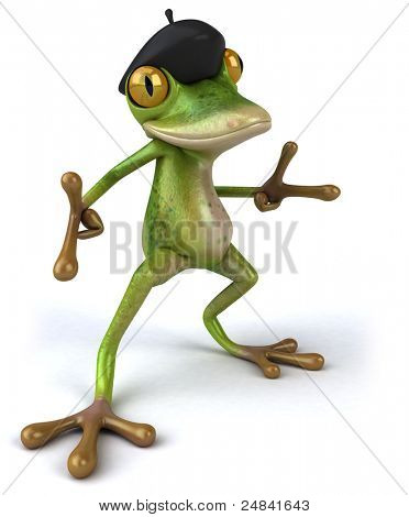 French frog poster