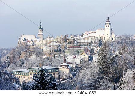 Nove Mesto nad Metuji in winter, Czech Republic poster